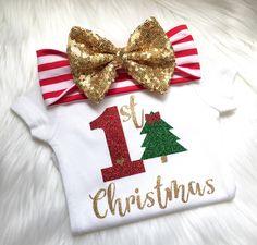 1st Christmas, first Christmas, christmas, baby girls, holidays, babies, newborn, baby shower, best gift ever, thanksgiving by PerfectlyPINKBow on Etsy https://www.etsy.com/listing/476959652/1st-christmas-first-christmas-christmas