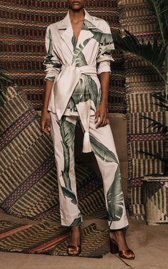 Get inspired and discover Johanna Ortiz trunkshow! Shop the latest Johanna Ortiz collection at Moda Operandi. Mood Designer Fabrics, Suit Fabric, Look Fashion, Fashion Design, Casual Chic, Lounge Wear, Fashion Dresses, Glamour, Street Style