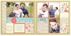 Two layouts, one kit! Workshops on the Go® Hopscotch Scrapbooking Kit #scrapbooking