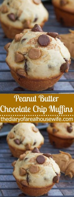 This soft and fluffy Peanut Butter Chocolate Chip Muffins can be served as breakfast but so yummy it could easily pass as dessert!