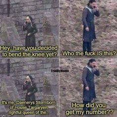 Daenerys still trying to get Jon to bend the knee . . . . . . . . . #thronesmemes #gameofthrones #asoiaf #got #hbo #gameofthronesfamily #gameofthronesfan #gameofthronesmemes #gotmemes #gots7 #winterishere #gameofthronesseason7 #gotseason7 #jonsnow #kitharington #daenerys #daenerystargaryen #emiliaclarke
