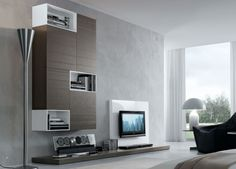 modern tv wall unit comp. 228 woodpresotto, italy from