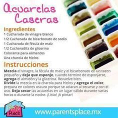 Acuarelas caseras Projects For Kids, Diy For Kids, Crafts For Kids, Party Deco, Craft Activities, Kids Learning, Ideas Para, Diy And Crafts, Crafty