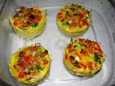 Light Breakfast Ham & Egg Muffins - 3 WW Points and reheat instructions