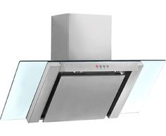 Baumatic BE900GL Built In Chimney Cooker Hood - Stainless Steel / Glass