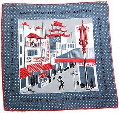 Tammis Keefe handkerchief. Grant Avenue, Chinatown.
