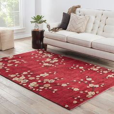 JaipurLiving Brio Cherry Blossom Red Rug Rug Size: