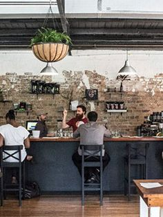 Hoo Ha Bar, Brisbane - paint over bricks Bar Ideas, Shop Ideas, Decor Ideas, Cafe Restaurant, Restaurant Design, Sunflower Cafe, Concept Stores, Burger Bar, Workout Ideas