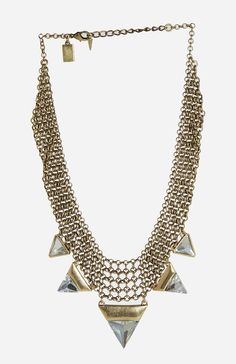Jenny Bird Illumina Bib Necklace in gold on shopstyle.com