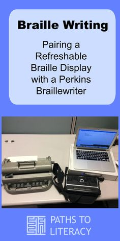 Braille Writing: Pairing a Refreshable Braille Display with a Perkins Braillewriter has ideas to motivate students who are blind or visually impaired, including those with learning disabilities who are struggling readers. Writing Process, Writing Skills, Princeton Library, Braille, Technical Writing, Struggling Readers, Assistive Technology, Student Motivation, Effective Communication