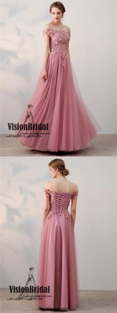 Peachy Pink Cap Sleeves Lace Up Applique With Beaded Tulle Long Prom Dress, Charming Prom Dress, VB0284 #promdress #longpromdresses #lacedress #applique