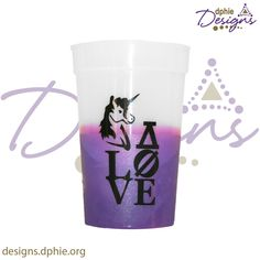 Delta Phi Epsilon Chameleon Cup!! Add a cool beverage and watch your clear tumbler turn from clear to purple!