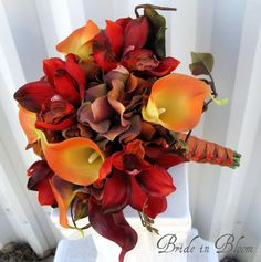 Wedding bouquet autumn fall