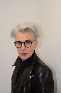 Brigitta Reuter and her wonderful white Warhol hair
