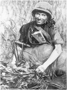 French paratrooper, Indochina. You can notice his MAS paratrooper folding carbine.