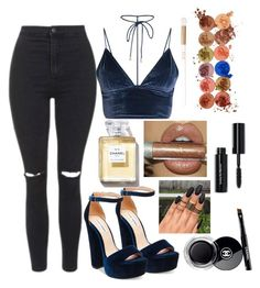 Untitled #647 by natalia-tommo on Polyvore featuring polyvore fashion style Topshop Steve Madden Bobbi Brown Cosmetics Chanel clothing