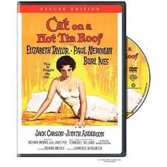"""""""Cat on a Hot Tin Roof"""" starring Elizabeth Taylor, Paul Newman, Burl Ives (1958)"""