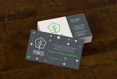 Ponos logo & business cards on Behance