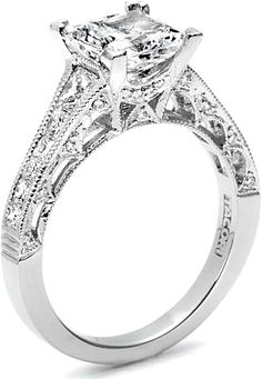 Tacori Channel-Set  Pave Princess Cut Diamond Engagement Ring HT2510PR. In case I'm ever in need of a backup.