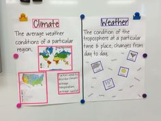 Climate vs weather anchor chart The Effective Pictures We Offer You About Holzbearbeitung werkzeug A Science Topics, Science Resources, Science Lessons, Science Activities, Science Projects, Science Ideas, Math Games, School Projects, School Ideas