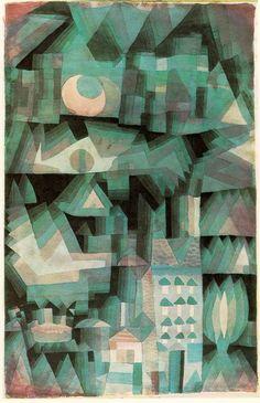 museumuesum:  Paul Klee Dream City, 1921 Watercolor and oil, 187/8 x 121/4 in