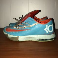 new concept 71e00 0ae8f Nike Shoes   Maryland Blue Crab Kd 6   Color  Blue Orange   Size  11.5