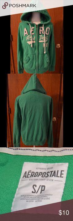 🎄SALE🎄Men's green Aeropostale hoodie Thick men's green hoodie, worn a few times. Was $10 now $5 Aeropostale Jackets & Coats
