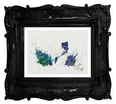 Little Mermaid archival fine art print Ariel by TentakittyInk