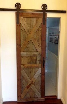 Vintage Industrial Spoked European Sliding Barn Door Closet Hardware Set |  JJ_VARTI | Pinterest | Barn Door Closet, Vintage Industrial And Barn Doors