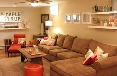 Decorating Basement Room- Add your own personality to the space and create an environment that is independent of the rest of your home and can be enjoyed on your own.