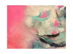 Warm Is Winning Abstract Pastel Drawing by Melanie Biehle for Minted