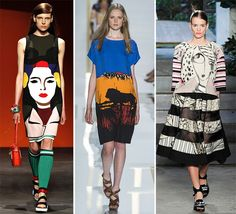 Spring/ Summer 2014 Print Trends - Portraits and Scenery  #trends #fashion