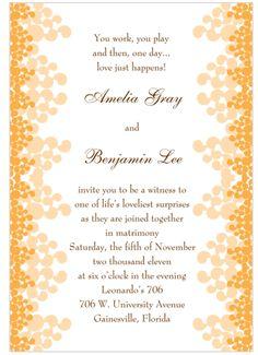 tangerine invitation Pantone 2012 Color of the Year   Tangerine Tango {Inspiration}