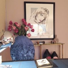 A small desk/ office area in a lady's bedroom  #lenakroupnikinteriors #interiordesign ##interiordesigner