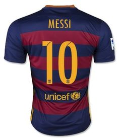 Barcelona Home Suarez #9 / Messi #10 / Neymar #11 Football Soccer Kids Jersey with Free Shorts 2015-16 (Youth L (for age 10-12), #10 Messi)