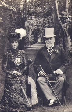 Queen Alexandra and King Edward VII of the United Kingdom.