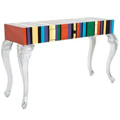 Louis Striped Console Table|Console Tables|Tables|French Bedroom Company