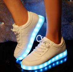 7-Cores-Led-Inferior-Tenis-Feminino-Couro-Falso-Lace-Up-sapatos-Flat-sapatos-masculinos