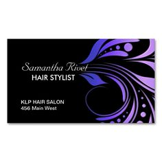 Hair Salon Appointment Business Card. Make your own business card with this great design. All you need is to add your info to this template. Click the image to try it out!