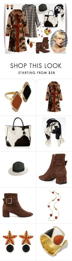 """Make my day"" by elza6 ❤ liked on Polyvore featuring Misis, Prada, Mark & Graham, Banana Republic, Justine Hats and Tod's"