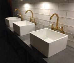 Polished concrete vanity tops | Ash grey by FLOAT design