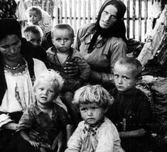 Serbian mothers and children inside Croatian Ustashe death concentration camp during WWII.