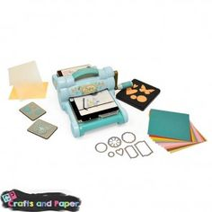 Machines for Die-Cutting. Powder Blue & Teal Big Shot Starter Kit by Sizzix Learn A New Skill, Skills To Learn, Big Shot, New Hobbies, Hobbies And Crafts, Online Craft Store, Craft Stores, Hobbycraft Shop, Sizzix Dies