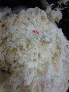 Dunkaroo Dip-1 box funfetti cake mix, 1/2 container plain yogurt, 1/2 container of whip cream.. Serve with animal crackers, graham crackers, or teddy grahams