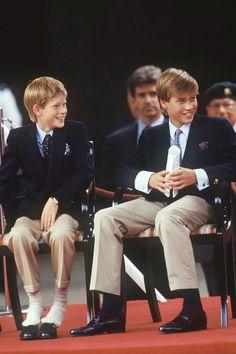 Princes Harry & William August, 1995.   - TownandCountryMag.com