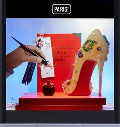 fc3882d49002 Le Bon Marché - Christian Louboutin. Retail Windows ...