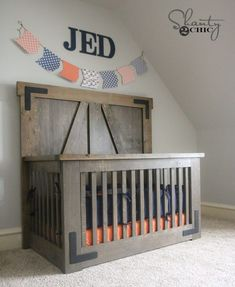 DIY Farmhouse Crib - Free Tutorial and Plans - Shanty 2 Chic