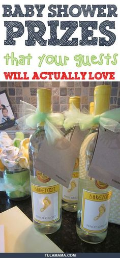 Stumped on ideas for baby shower prizes? Click the link for 33 baby shower game prizes that a. Stumped on ideas for baby shower prizes? Click the link for 33 baby shower game prizes that are easy to put together, and will suit any budget. Otoño Baby Shower, Fiesta Baby Shower, Shower Bebe, Baby Shower Winter, Girl Shower, Budget Baby Shower, Unicorn Baby Shower, Baby Shower Themes Neutral, Christmas Baby Shower