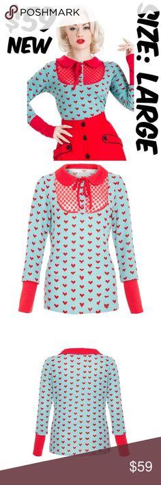 Voodoo Vixen Heart Lace Pin Up Sweater 1950s Girl Voodoo Vixen Heart Lace Pin Up Sweater 1950s Girl #C9 Voodoo Vixen Sweaters