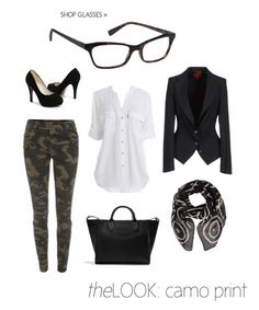 theLOOK - Camo Pants & 7 for All Mankind Glasses